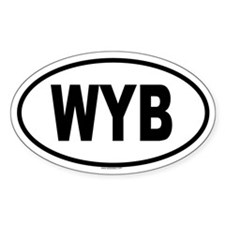 WYB Oval Decal