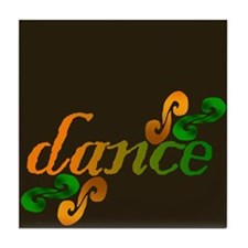 Dance Swirls Tile Coaster