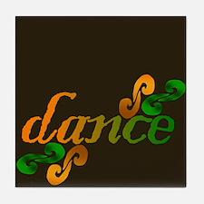 Dance Swirls Tile Coaster