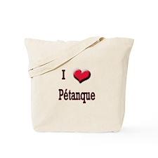 I Love (Heart) Petanque Tote Bag