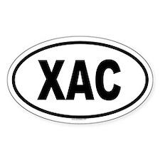 XAC Oval Decal