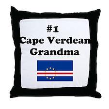 #1 Cape Verdean Grandma Throw Pillow