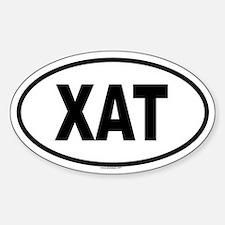 XAT Oval Bumper Stickers