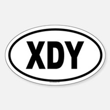 XDY Oval Decal