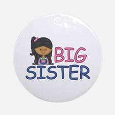 Big Sister Girl Ornament (Round)