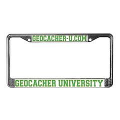 Geocacher University License Plate Frame