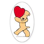 SCWT valentine Oval Sticker