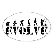 Fisherman Evolution Oval Decal