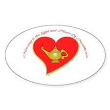 Nursing is the Light and Heart Oval Decal
