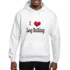 I Love (Heart) Log Rolling Hoodie