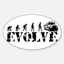 Bus Driver Evolution Oval Decal