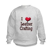 I Love (Heart) Leather Crafti Sweatshirt