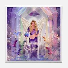 Angel of Light Tile Coaster