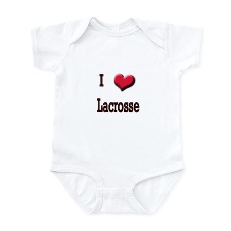 I Love (Heart) Lacrosse Infant Bodysuit