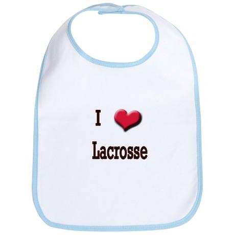 I Love (Heart) Lacrosse Bib
