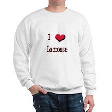 I Love (Heart) Lacrosse Sweatshirt