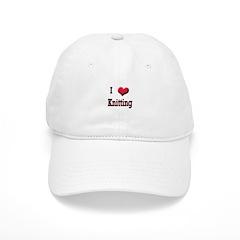 I Love (Heart) Knitting Cap