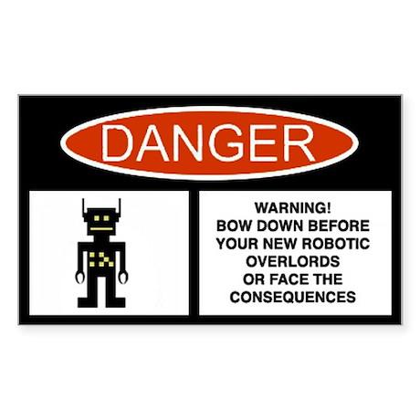Robot Danger Sticker