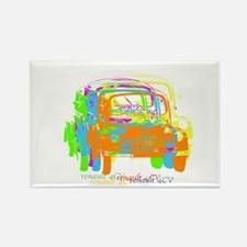 Renault 4CV Rectangle Magnet