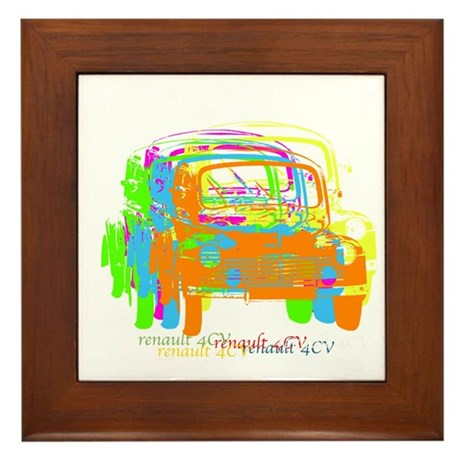 Renault 4CV Framed Tile