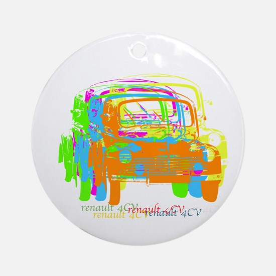 Renault 4CV Ornament (Round)