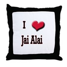 I Love (Heart) Jai Alai Throw Pillow