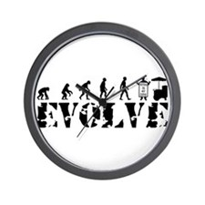 Street Vendor Evolution Wall Clock