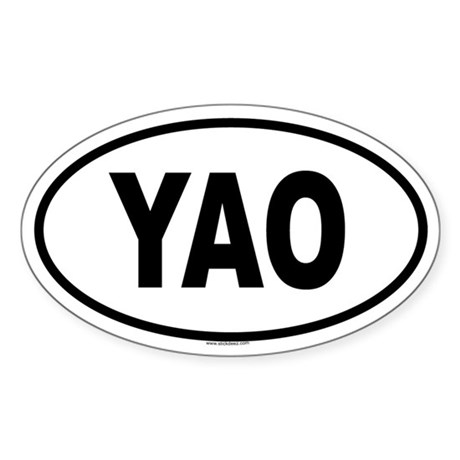 YAO Oval Sticker