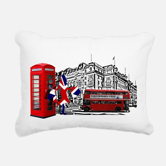 London Rectangular Canvas Pillow