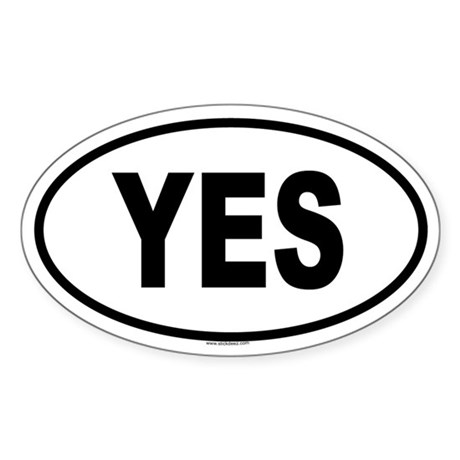 YES Oval Sticker