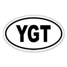 YGT Oval Decal