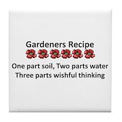 Gardeners Recipe Tile Coaster