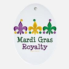 Mardi Gras Fleur de Lis Oval Ornament