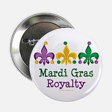 "Mardi Gras Fleur de Lis 2.25"" Button"