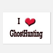 I Love (Heart) Ghost Hunting Postcards (Package of
