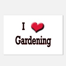 I Love (Heart) Gardening Postcards (Package of 8)
