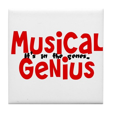 Musical Genuis Genes Tile Coaster