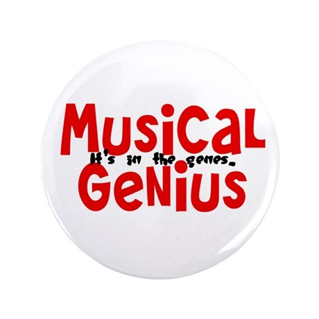 "Musical Genuis Genes 3.5"" Button (100 pack)"