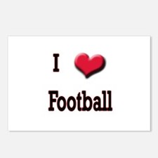 I Love (Heart) Football Postcards (Package of 8)