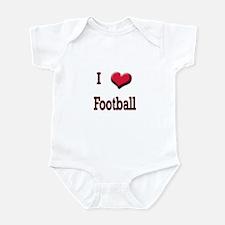 I Love (Heart) Football Infant Bodysuit