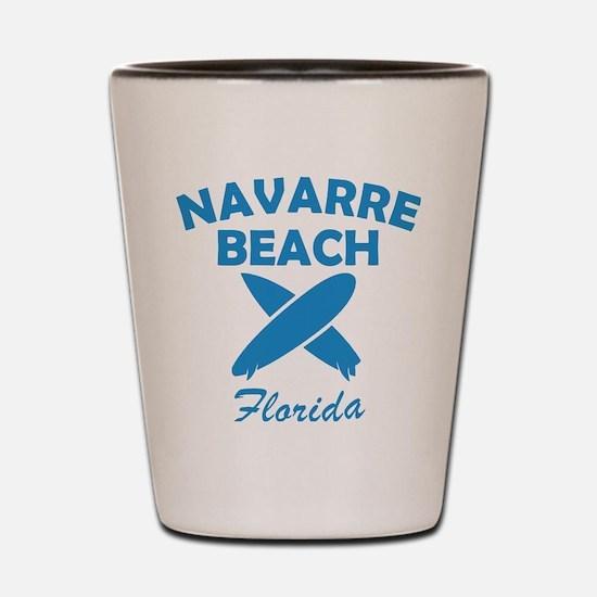 Funny Navarre beach vacation Shot Glass