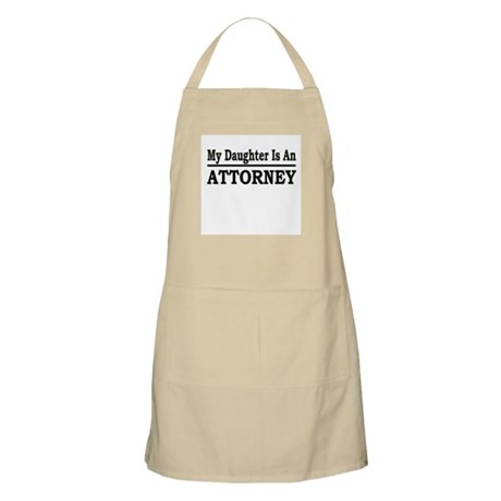 """My Daughter Is An Attorney"" BBQ Apron"