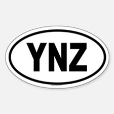 YNZ Oval Decal