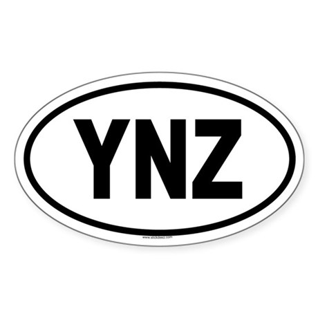 YNZ Oval Sticker