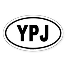 YPJ Oval Decal
