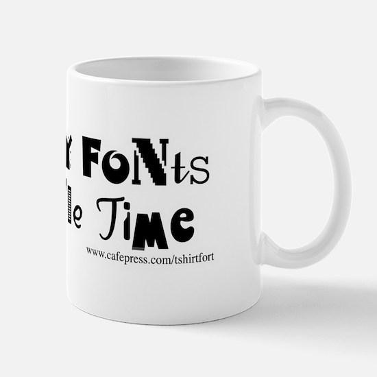 So Many Fonts! Mug