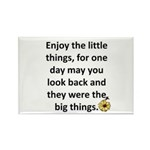 Enjoy the little things Rectangle Magnet (100 pack