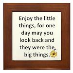 Enjoy the little things Framed Tile