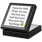 Enjoy the little things Keepsake Box