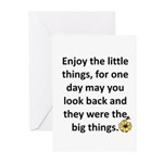 Enjoy the little things Greeting Cards (Pk of 10)